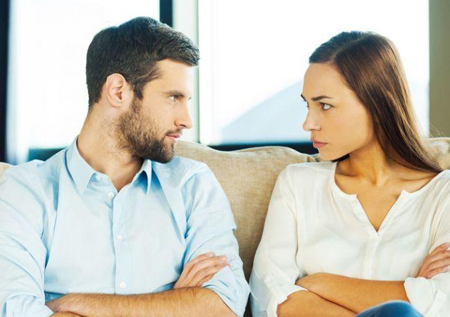 В начале знакомства конфликт
