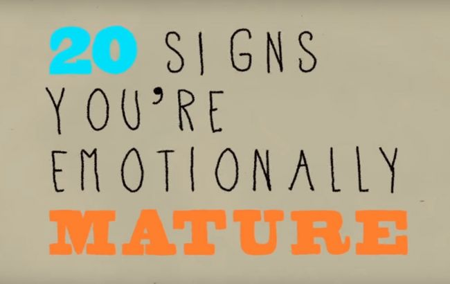 20 признаков эмоциональной зрелости
