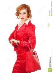 Женщина с надписью