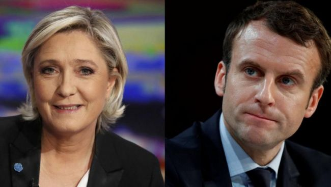 Выборы Президента Франции: Марин Ле Пен и Эммануэль Макрон