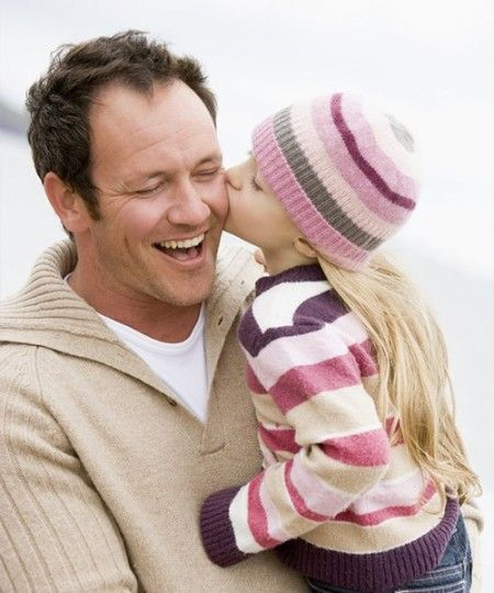 Роль папы для девочки.